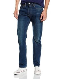 2 Pairs Levis 501 Jeans (33W,30L) Black and Blue