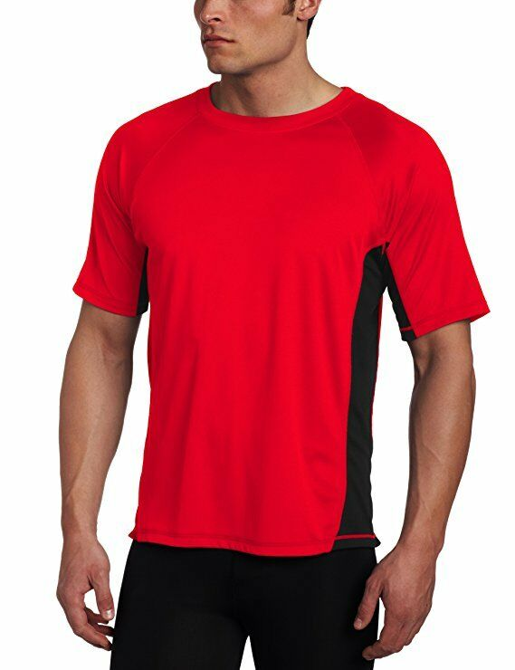 Kanu Surf Men's CB Rashguard UPF 50+ Swim Shirt Red XL