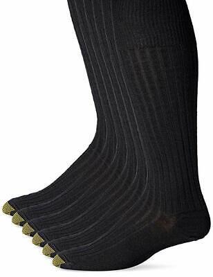 Gold Toe Men's Windsor Wool Over the Calf Dress Sock, Navy,