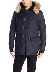 NEW Spiewak Men's Waterproof N3-B Snorkel Parka with Fur Trimmed Hood Condtion: New, Large, Total Eclipse