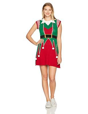 Ugly Christmas Sweater Women's Elf Dress ,X-Large, used for sale  Milroy