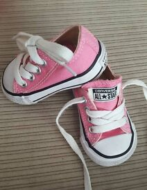 Infant Converse Pink trainers size 2