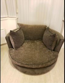 Grey swindle chair