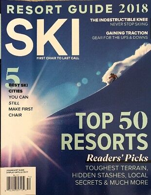 Ski Top 50 Resorts Readers Picks Best Ski Cities 2018 Guide FREE SHIPPING (50 Best Literary Magazines)