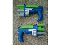 2 x Pump Action Nerf Style Guns w/ nerf bullets