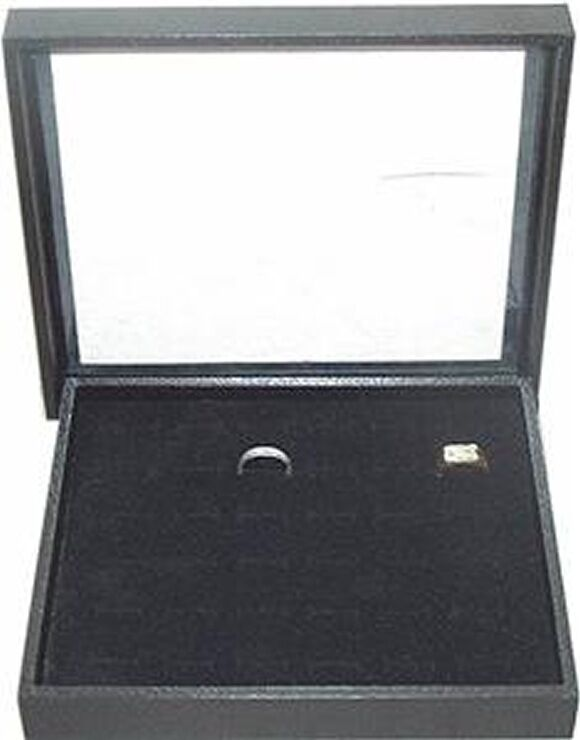 36 RING CLEAR TOP JEWELRY DISPLAY CASE BOX