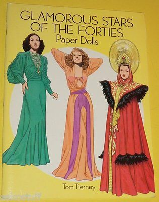 Glamorous Stars of the 40s Dorothy Lamour Rita Hayworth 1994 Uncut Paper Dolls!