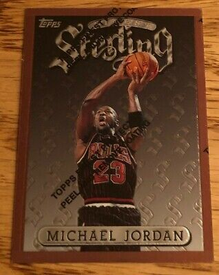 1996-97 Topps Finest Sterling Michael Jordan w/Protective Coat Card 50 ThemeS23