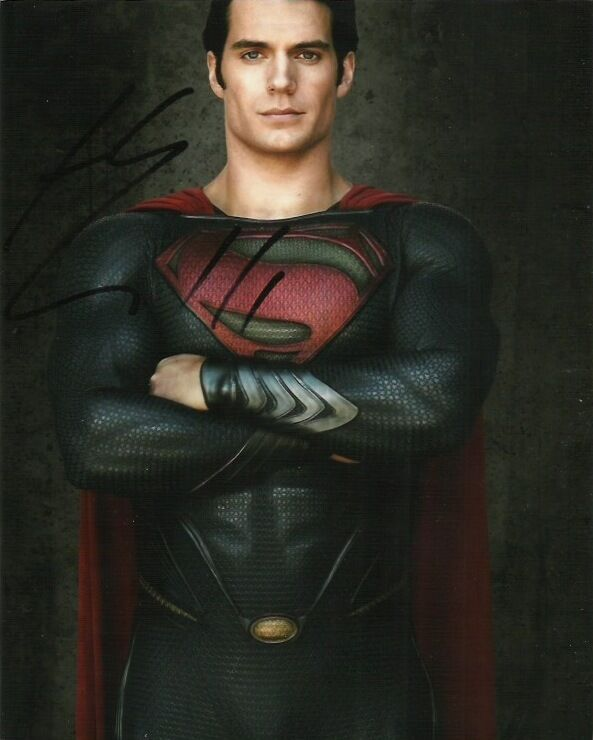 Henry Cavill Superman Man of Steel Autographed Signed 8x10 Photo COA