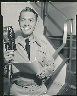 RICHARD CROMWELL Original CANDID NBC Radio Vintage 1930s Studio Snapshot Photo