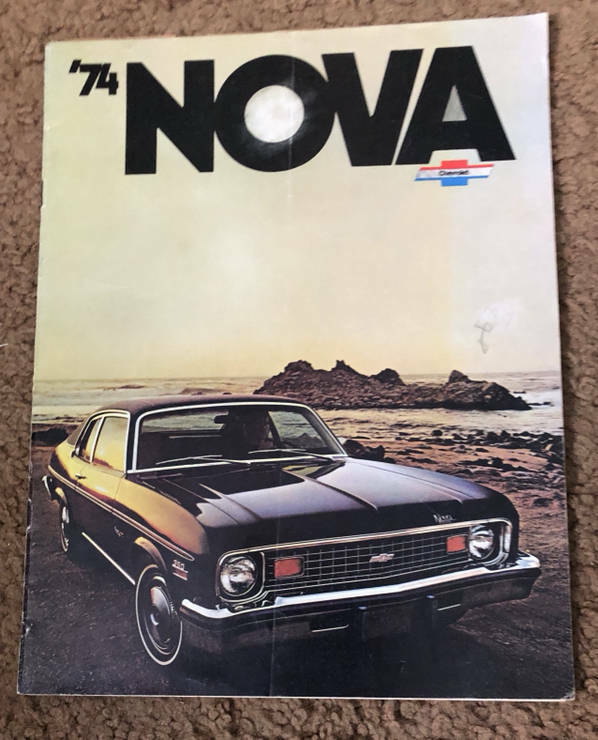 Chevy Nova Brochure 1974 &  Fold Out Picture 1970