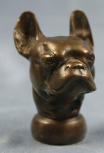 franz sische bulldogge kopf bronze seltenes original um. Black Bedroom Furniture Sets. Home Design Ideas