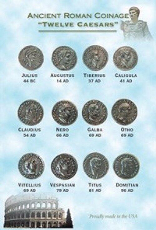 TWELVE CAESARS ROMAN COIN TOKENS
