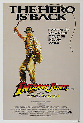 Indiana Jones And The Temple Of Doom  1984  Harrison Ford Movie Poster Print 5