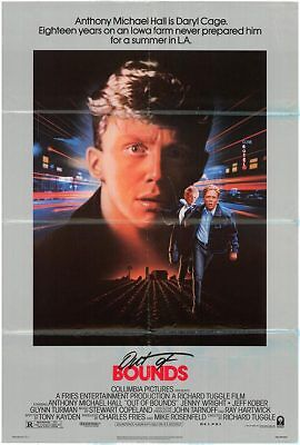 OUT OF BOUNDS (1986) ANTHONY MICHAEL HALL ORIGINAL 1 SHEET MOVIE POSTER