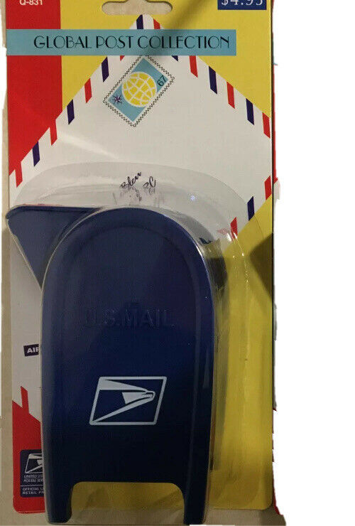 USPS  Blue Mailbox Roll Coil Stamps Dispenser & Coin Bank