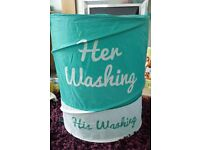 His and hers washing basket