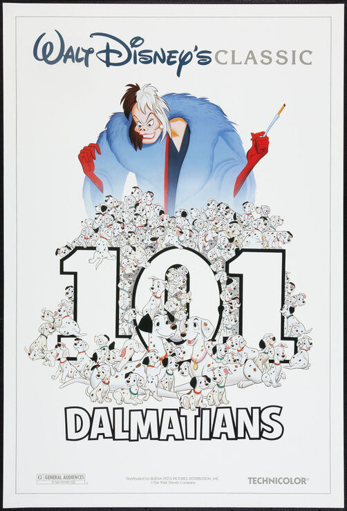 101 Dalmations - Original Movie Poster - Disney r91 Rolled   *Hollywood Posters*