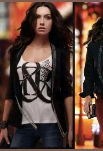 Rock Republic NWT Plus Full Metal Jacket, Black, Rhinestone/studded Jacket 16 - $30.00