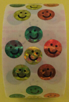 """Used, 600 Smiling Face Stickers in roll of 100 modules 2""""x2"""",each sticker 5/8"""", RP6009 for sale  Shipping to India"""