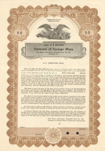 Veterans of Foreign Wars VFW Schuylkill Post 129 > 1949 Pottsville Pennsylvania