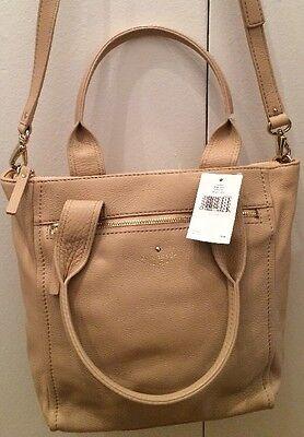 Kate Spade Courtnee Cobble Hill Affogato Bag Nwt  378 Tan Beige Leather Goldtone