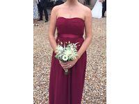 3 Debenhams Debut bridesmaid dresses size 8, 10 and 14