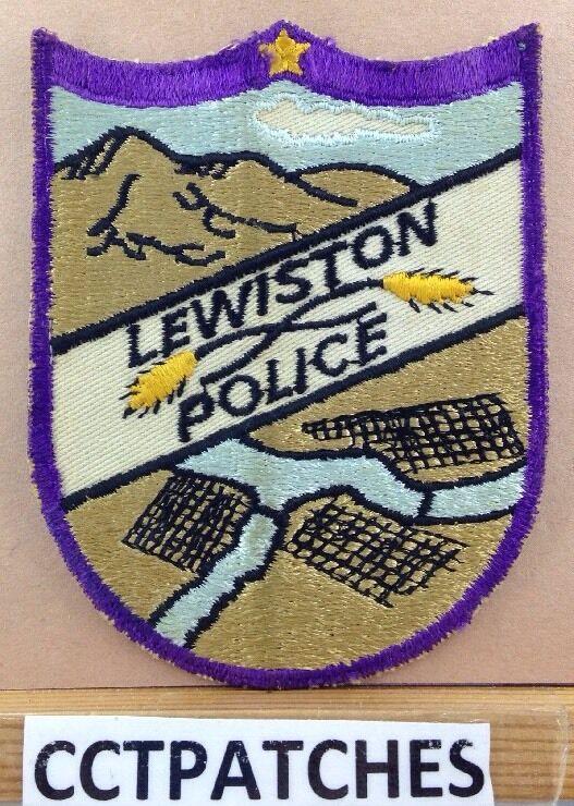 VINTAGE LEWISTON, IDAHO POLICE SHOULDER PATCH ID