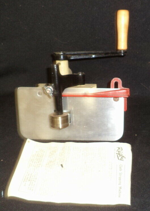 Vintage Rigby Cloth Stripping Machine South Portland Maine USA RUG BRAIDING ARTS