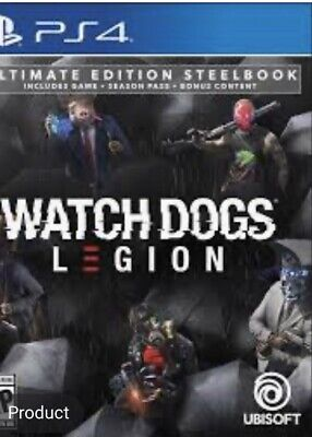 Used, Watch Dogs: Legion Ultimate Steelbook Edition Ubisoft Brand New *Presale* for sale  Shipping to Nigeria