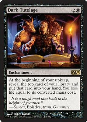 2x MTG: Dark Tutelage - Black Rare - Magic 2011 - M11 - Magic Card
