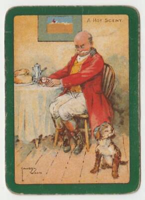 """A27 swap Playing Card artist Lawson wood Wide ad """" a hot scent """" comical dog"""
