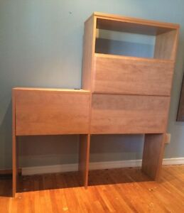 Headboard (double bed)/Bookcase