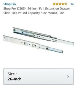5 pairs of 26-Inch Full Extension Drawer Slides