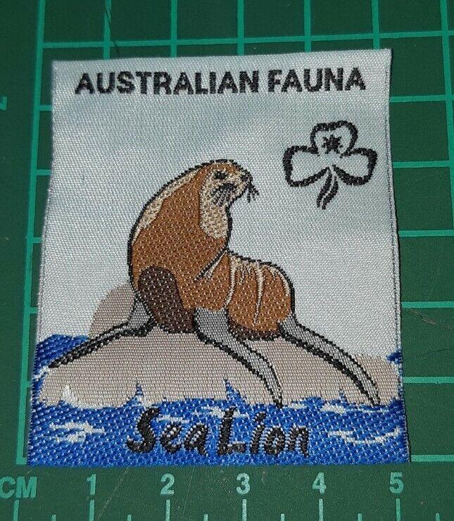 Australian Fauna Girl Guide Badge. - Sea Lion