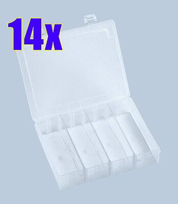 14x Sortimentskasten variabel PRO natur NEU 140x180x40mm Box Sortierkasten Boxen