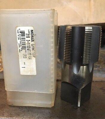 "Morse USA 36131 2"" 11-1/2 NPT 7FL Pipe Tap Bright HSS Machinist Plumping Tool"