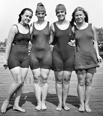Swimsuits Photo 7 4 gals on Boardwalk Vintage 1922 Flappers Jazz Prohibition