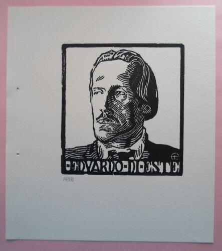 Adolfo Pastor (Uruguay 1930-2007) xilografía 20x17 papel 31x28 de 1990 nº 14/175