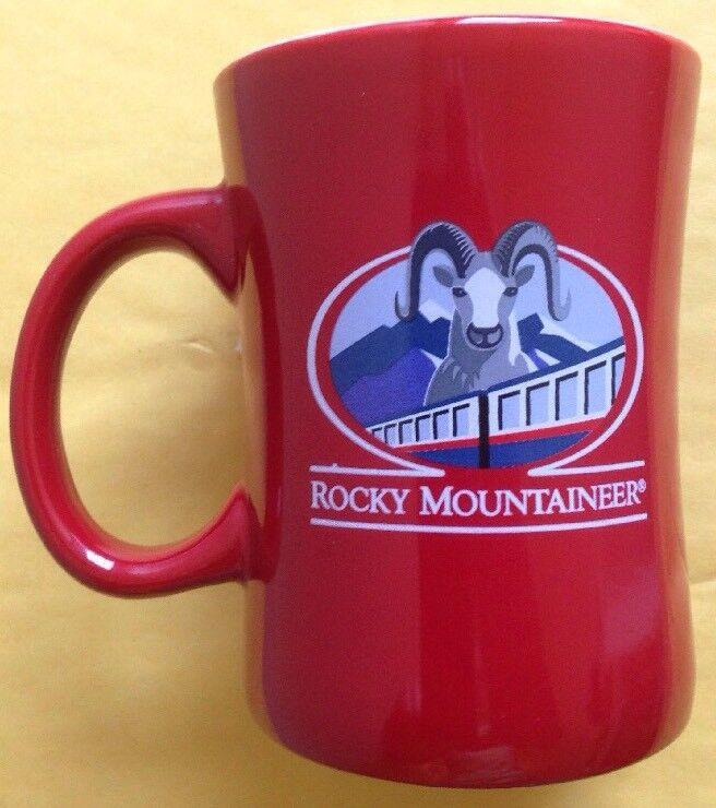 ROCKY MOUNTAINEER CANADIAN RAILWAY TRAIN COFFEE MUG, VANCOUVER, BANFF, NEW