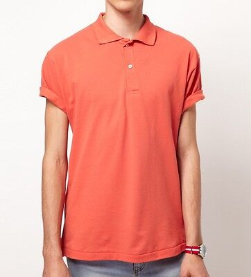 ORIGINAL American Apparel Pique Polo Golf Shirt Watermelon Coral Salmon XL