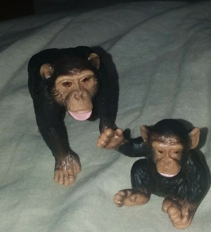 Schleich Chimpanzee Baby Infant  And Male Chimp
