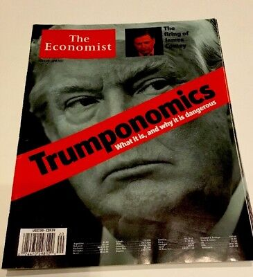 The Economist Magazine Trumponomics Donald Trump Cover My 2017