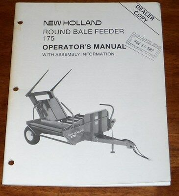 New Holland 175 Round Bale Feeder Operators Assembly Manual