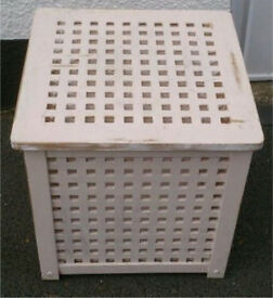 Ikea wooden blanket box / linen basket needs re-painting