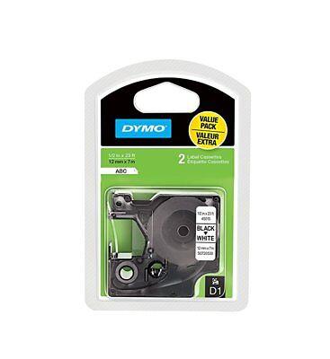 White 0.5 Labeling Tape (*PACK Of 2* NEW DYMO D1 45013 Black-On-White Tape, 0.5