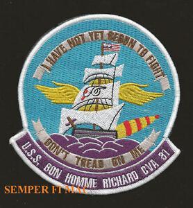 USS-BON-HOMME-RICHARD-CVA31-CV-CVS-US-NAVY-PATCH-I-HAVE-NOT-YET-BEGUN-TO-FLIGHT