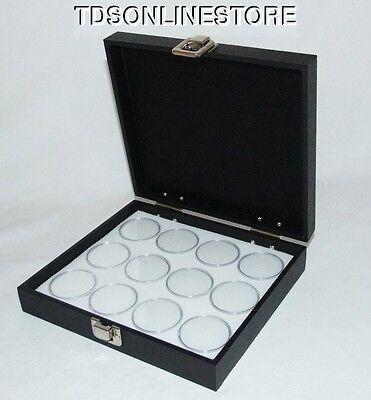 Traveling Gem Storeage Case 12 Gem Jars White Foam