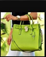 MICHAEL KORS HAMILTON TOTE SAFFIANO LEATHER GREEN