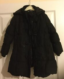 John Lewis 'Girl' padded coat, with hood. Black.